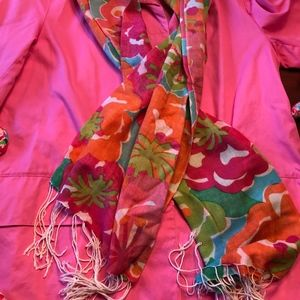 Lilly Pulitzer Floral Murfee Cashmere and Silk